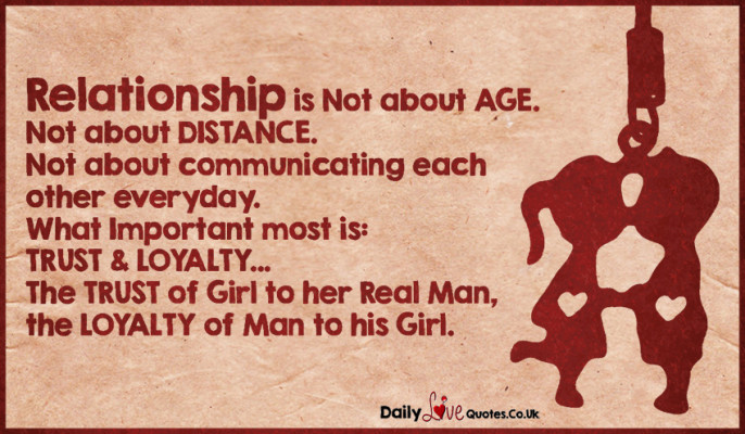 Relationship is Not about AGE. Not about DISTANCE