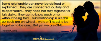Some relationship can never be defined or explained… they are connected soulfully and telepathically