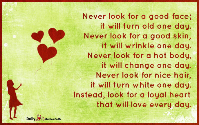 Never look for a good face
