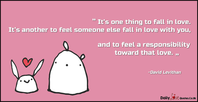 It's one thing to fall in love. It's another to feel someone