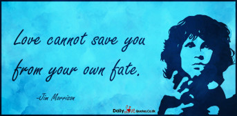 Love cannot save you from your own fate