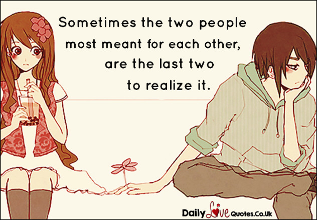 Sometimes the two people most meant for each other