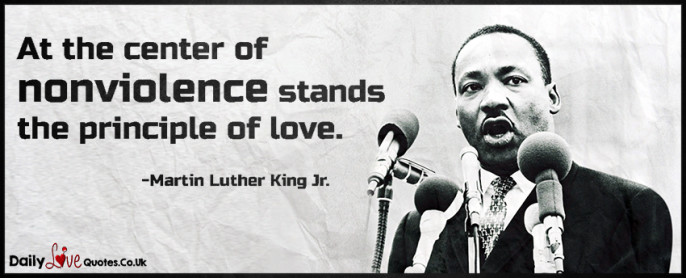 At the center of nonviolence stands the principle of love