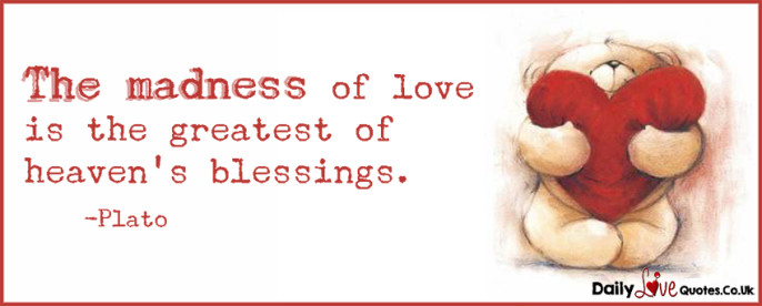 The madness of love is the greatest of heaven's blessings