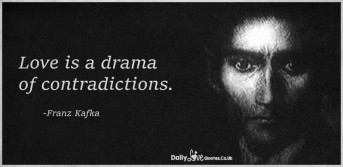 Love is a drama of contradictions