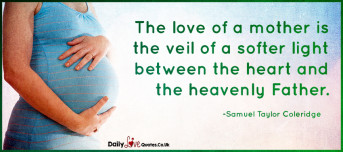 The love of a mother is the veil of a softer light between