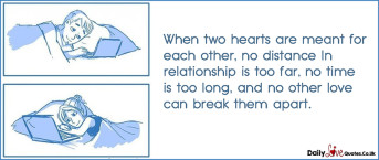 When two hearts are meant for each other, no distance In relationship is too far