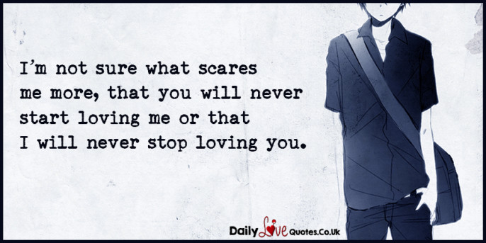 I'm not sure what scares me more, that you will never start
