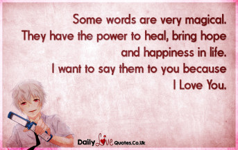 Some words are very magical. They have the power to heal, bring hope and happiness