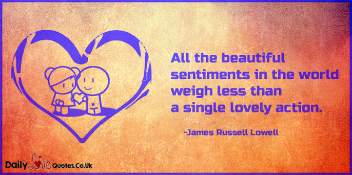 All the beautiful sentiments in the world weigh less