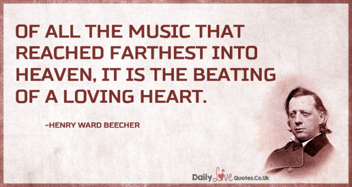 Of all the music that reached farthest into heaven, it is the beating